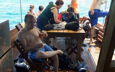 Attività ANGSA LA SPEZIA a bordo con ASSOCIAZIONE PER IL MARE